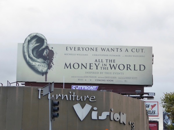 All Money in World Ear cut-out billboard