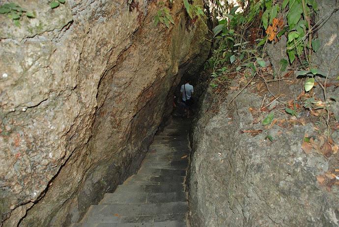 Escalera de roca