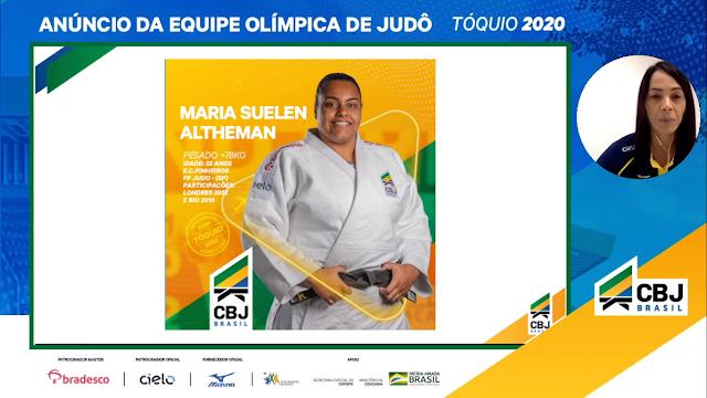 Maria Suelen Altheman convocada para os Jogos Olímpicos Tóquio 2020