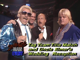 WWE / WWF Saturday Night's Main Event 2 - Mean Gene interviews The Dream Team (Brutus Beefcake, Greg Valentine and their manager, Johnny Valiant)