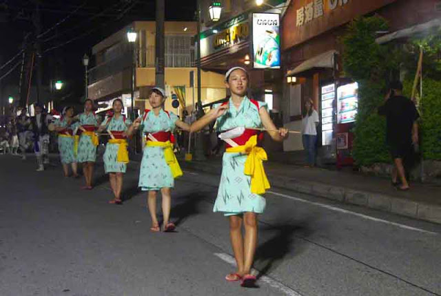 dance, Eisa, girls, Obon, Okinawa