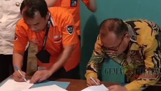 Penandatanganan Kontrak PDAM Kotabaru dengan Pos Indonesia