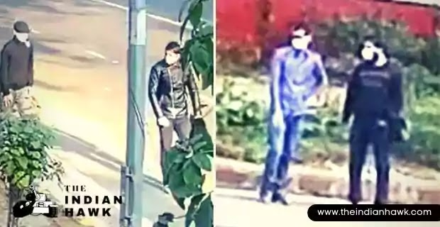 NIA has released a video and images from a CCTV footage near the spot of explosion. Two suspected men are seen roaming in the area.