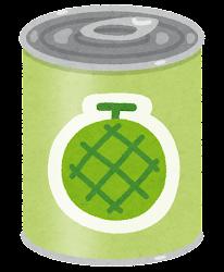 フルーツ缶詰のイラスト(メロン)