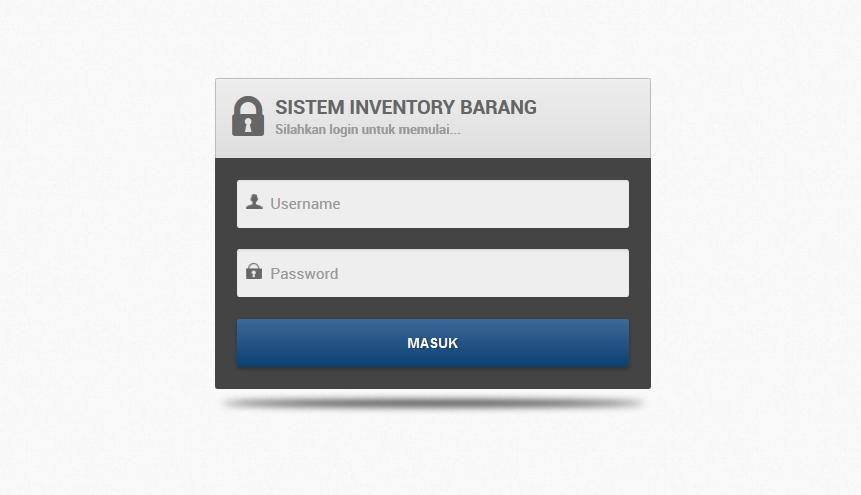 login - Aplikasi Inventory Barang Dengan Php Dan Mysql