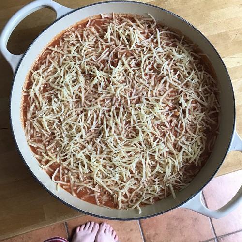 Ofen-Maccheroni mit Käsekruste
