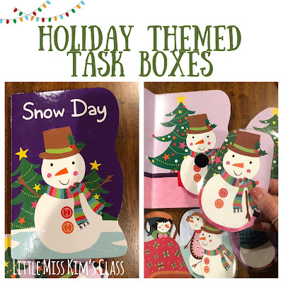 Holiday Themed Task Boxes for Special Education