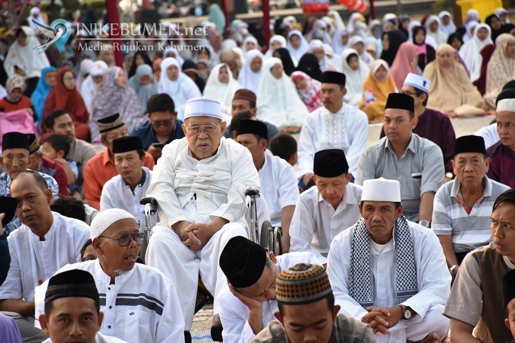 Shalat Idul Adha di Alun-alun Kebumen, Imam dari NU dan Khotib dari Muhammadiyah