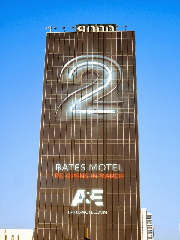 Giant Bates Motel season 2 teaser billboard