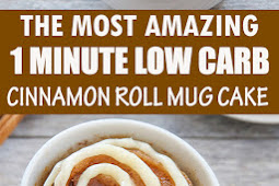 THE MOST AMAZING 1 MINUTE LOW CARB CINNAMON ROLL MUG CAKE