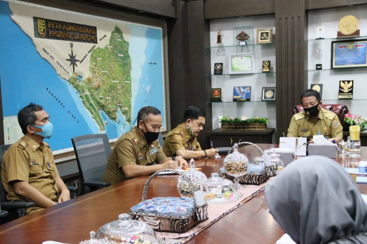 Gubernur Lampung, Arinal Djunaidi, menerima audiensi Kepala Badan Pusat Statistik (BPS) Provinsi Lampung