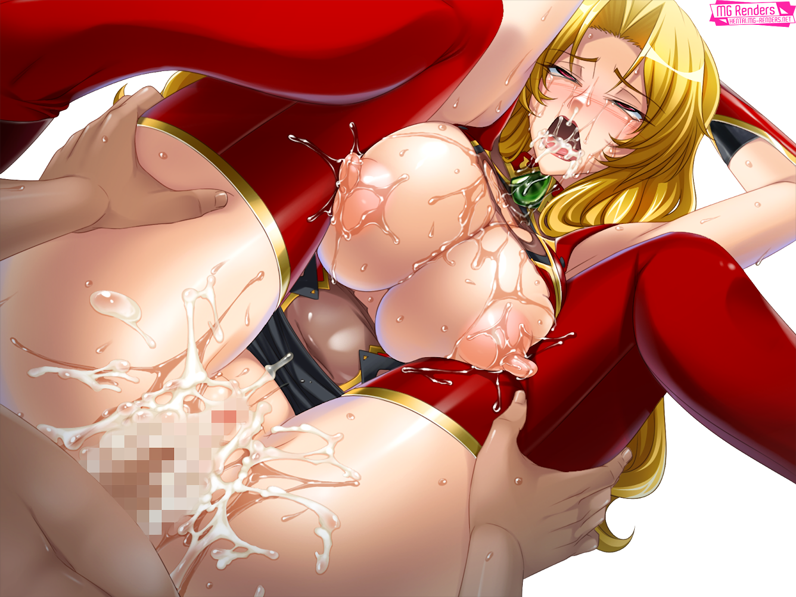 Tags: Anime, Render,  Ahegao,  Alicia Viewstream,  Huge Breasts,  Kagami,  Kangoku Senkan 2,  Lactation,  No bra,  No panties,  Saliva,  Semen,  Spread Legs,  Vagina,  Vaginal Sex, PNG, Image, Picture