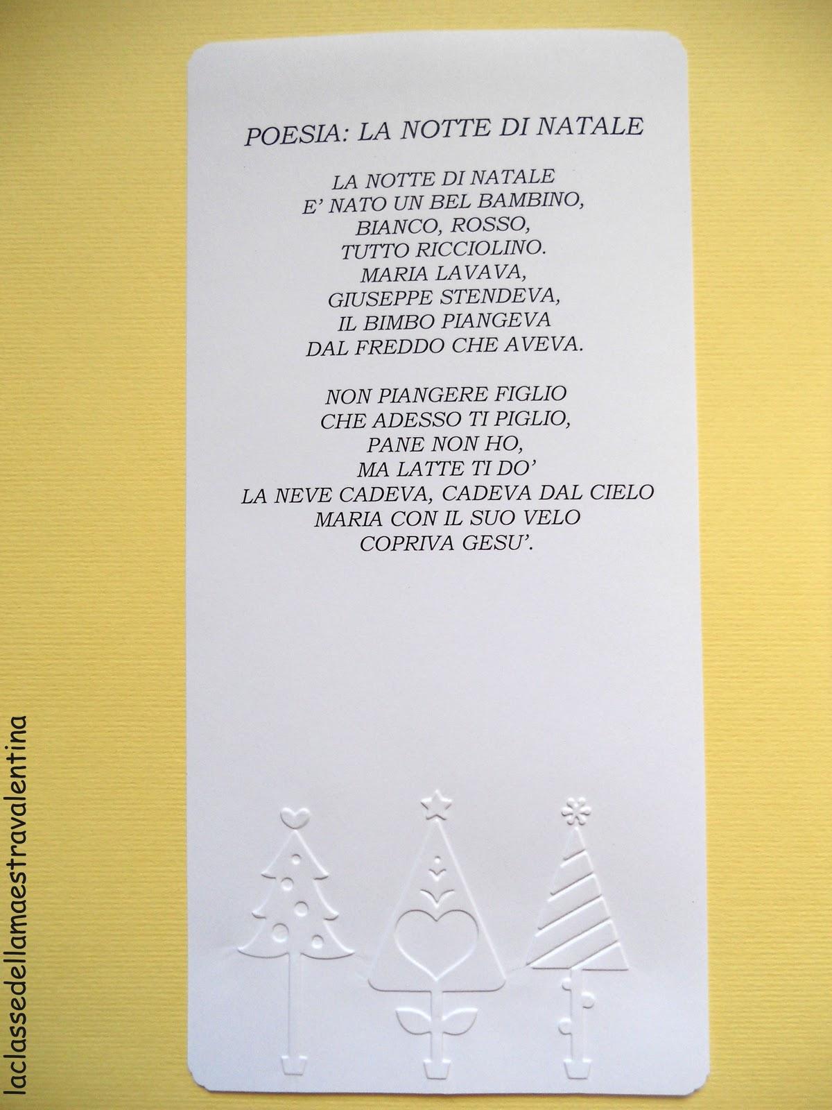 Poesie Di Natale Prima Elementare.La Classe Della Maestra Valentina Cassetto N 24 Poesia Di Natale