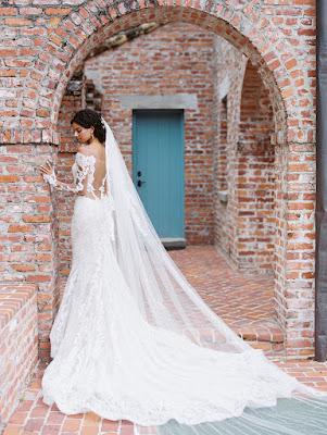 brides long wedding dress