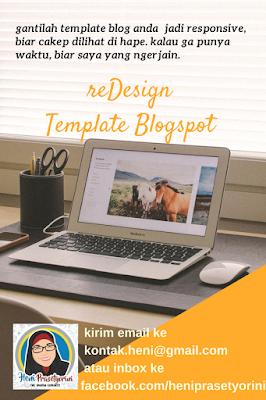 redesign template blogspot responsive