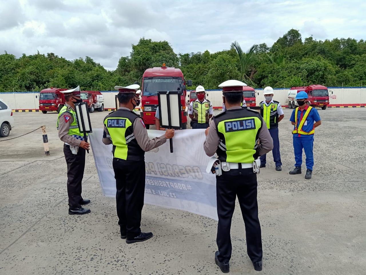 Satlantas Polres Pulpis Sosialisasikan Operasi Patuh Telabang 2020 dan Protokol Kesehatan Covid-19