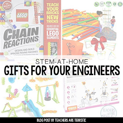 STEM Kit ideas for your youngest engineers. These are things that can be completed at home!