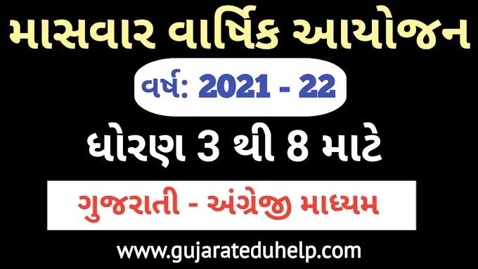 STD 3 To 8 Masvar Varshik Aayojan 2021-22 | New Syllabus Planning - Gujarati and English Medium