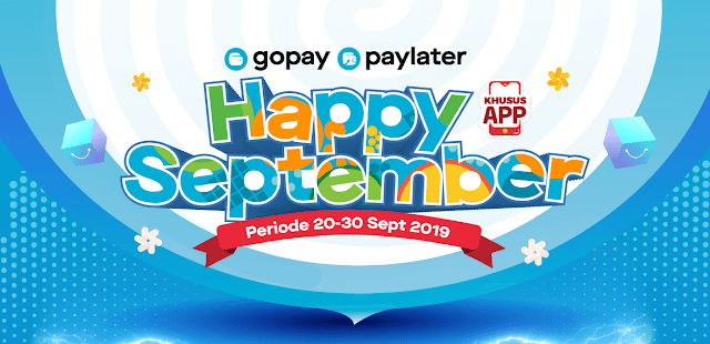#Alfacart - #Promo Happy September Potingan 50% di APP Pakai GOPAY (s.d 30 Sept 2019)