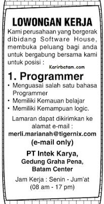 Lowongan Kerja PT. Intek Karya Indonesia