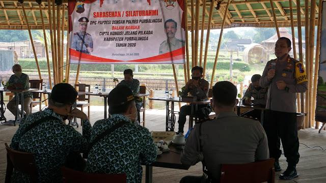 Kapolres Purbalingga Ajak DPC Papdesi  Ciptakan Situasi Kondusif  di Pilkada 2020