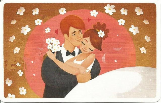 dibujos pareja novios recién casados