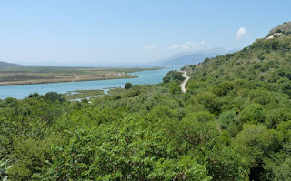 Vistas desde elCastillo de la Acrópolis de Butrinto.