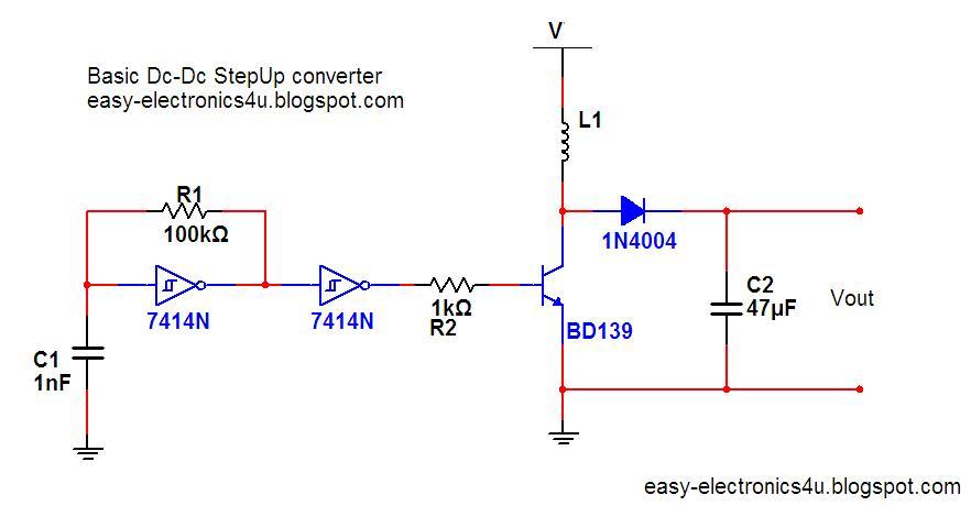 Basic step up dc-dc converter ~ Easy Electronics