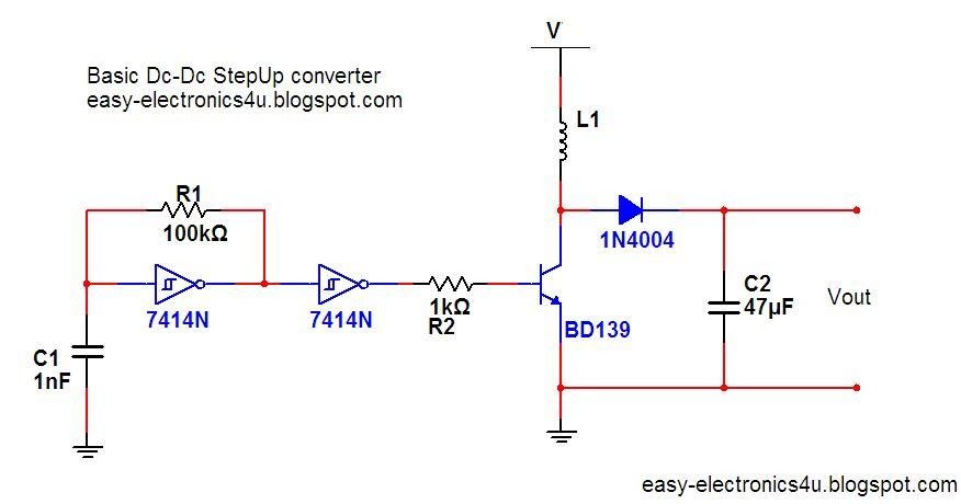 Basic step up dc-dc converter ~ Easy Electronics