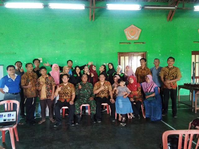 KKN Mahasiswa UNNES Semarang Berakhir, Babinsa Wonosari Turut Melepasnya