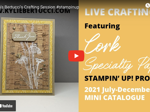 VIDEO: Bruno's ideas for using the Cork Specialty Designer Series Paper