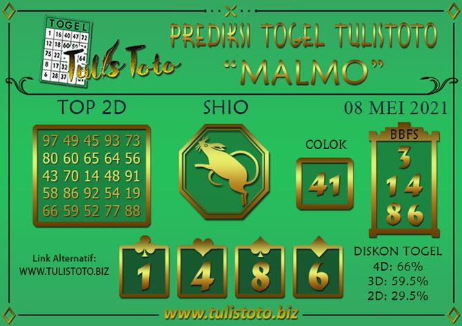 Prediksi Togel MALMO TULISTOTO 08 MEI 2021