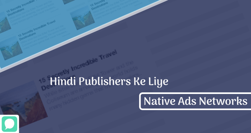 Native Advertising Hindi Publishers Ke liye