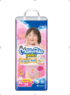 Harga Mamy Poko Pants Girl 24'S Extra Soft Fit Extralarge di Indomaret
