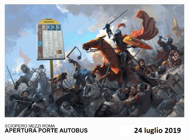 Situazione trasporto pubblico Roma martedì 23 luglio