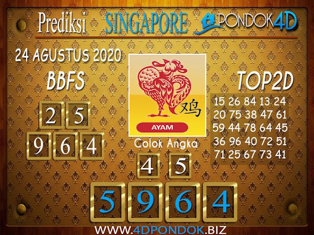 Prediksi Togel SINGAPORE PONDOK4D 24 AGUSTUS 2020