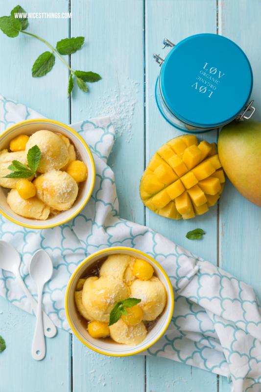 Mango Mousse Rezept mit Eistee Sirup nachtisch Dessert Mangos #mango #dessert #mousse #nachtisch #mangorezept