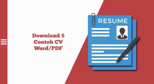 download cv word dan pdf