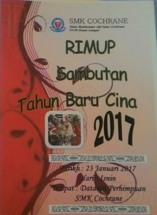 RIMUP SAMBUTAN TAHUN BARU CINA 2017