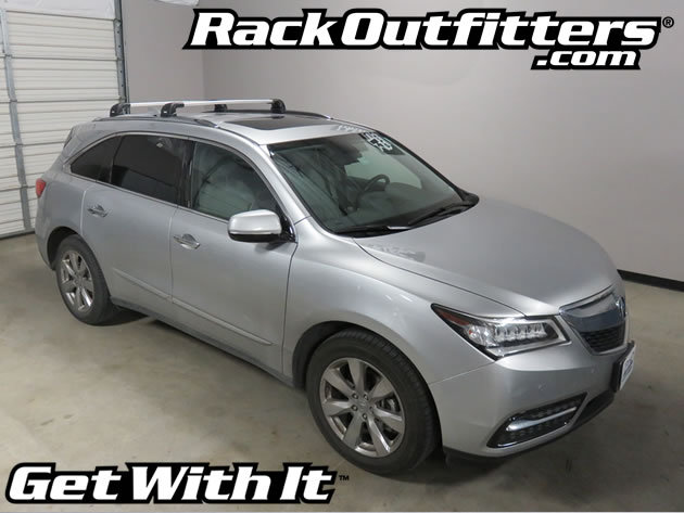 Acura Mdx Thule Silver Aeroblade Edge Roof Rack System 14
