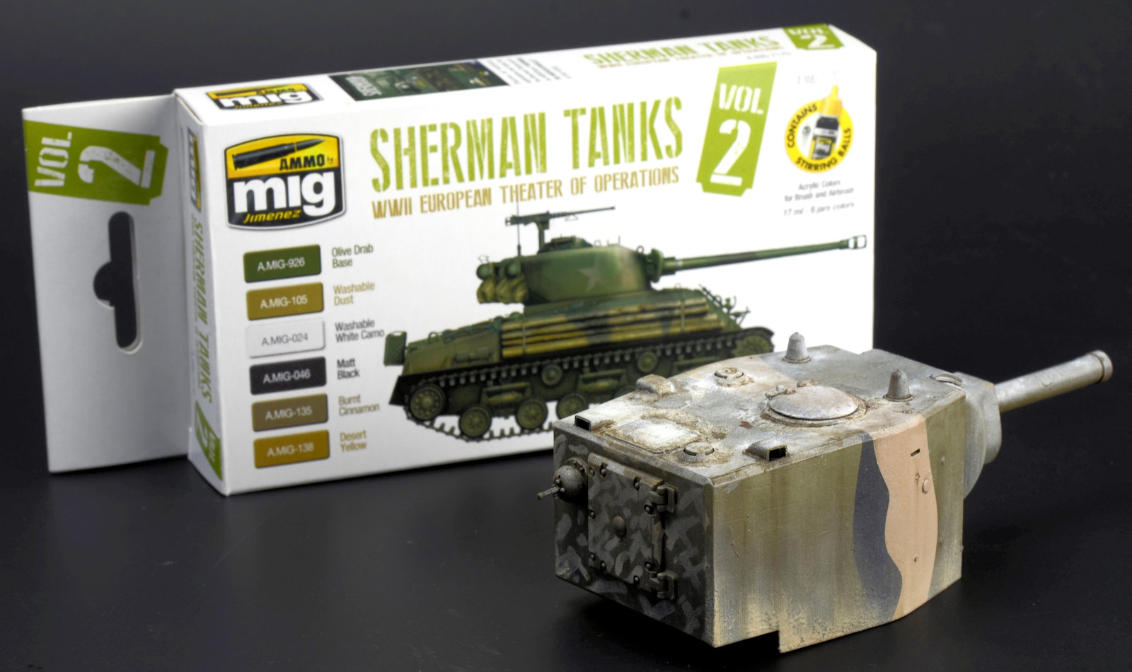 The Modelling News: Ammos new paint set of Sherman Colours
