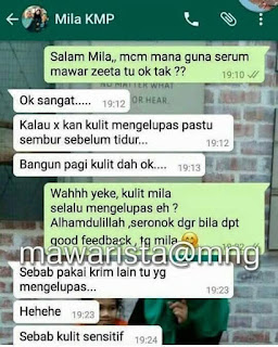 Testimoni Rose Face Serum Zeeta