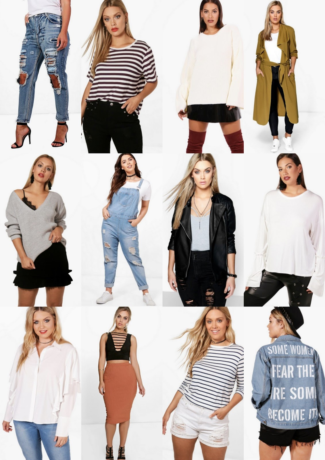 Transitional Picks From Boohoo Plus - Early Autumn plus size fashion pieces