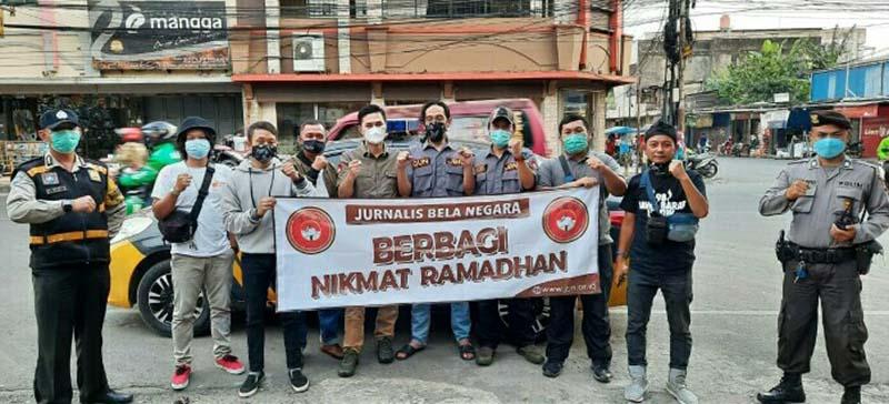 Jurnalis Bela Negara Berbagi Nikmat di Bulan Ramadhan
