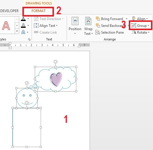 Cara Menggabungkan Grouping Gambar Di Microsoft Word 2010 2013 2016