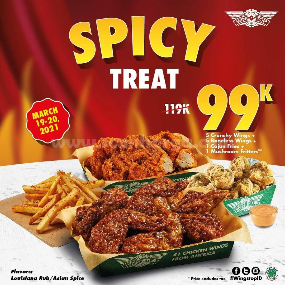 WINGSTOP SPICY TREATS – harga Paket  hanya Rp 99.000