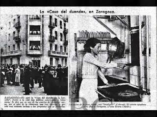 Un article de journal montrant la résidence à gauche et Pascuala Alcocer à droite