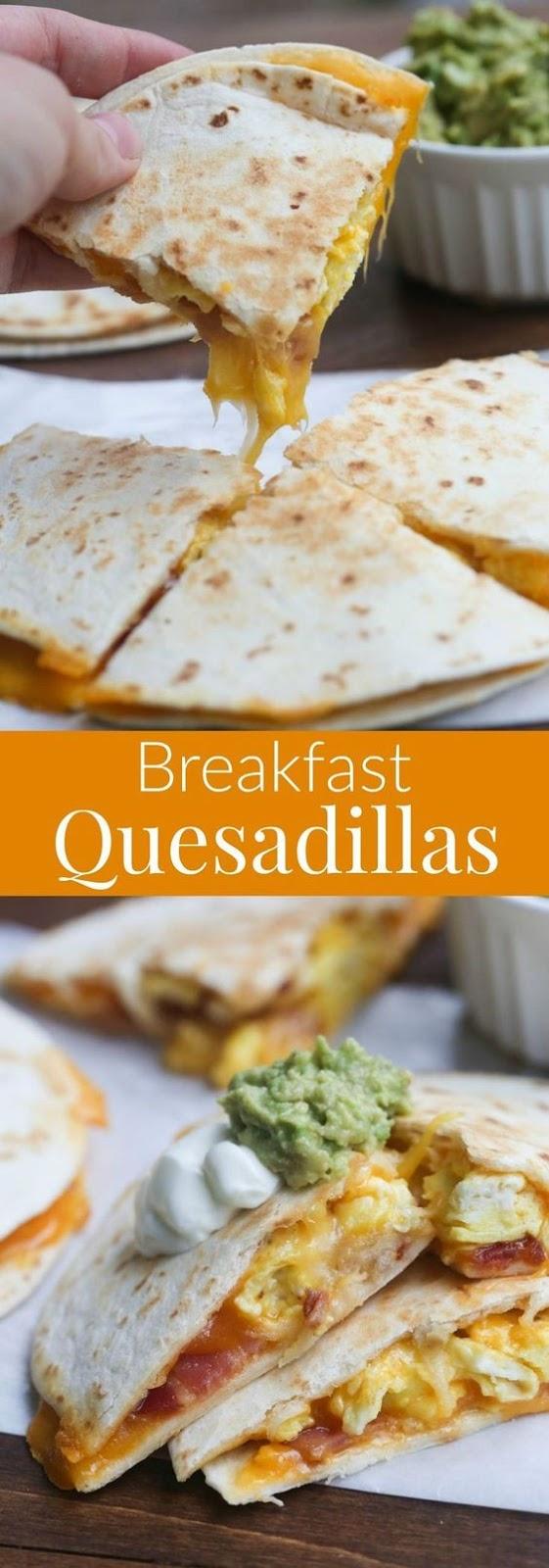Breakfast Quesadillas #american #breakfast #quesadillas