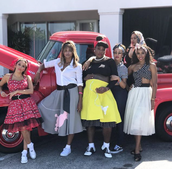 Photos from Serena Williams' 50s themed baby shower