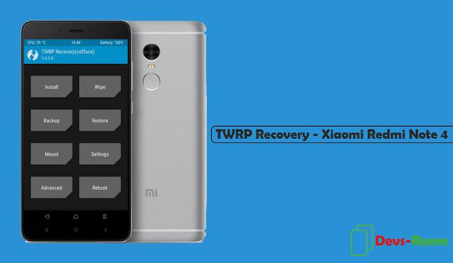 Cara Instal TWRP Recovery Xiaomi Redmi Note 4 [Mediatek]